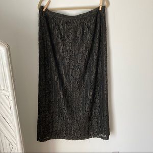 Banana Republic Skirt Grey Lace NWT Maxi